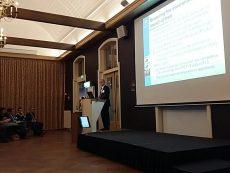 Nick Major van Fefac tijdens Nevedi congres
